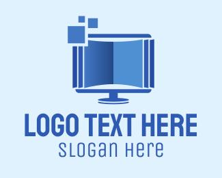 Monitor - Digital Book Monitor logo design