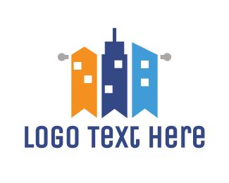 Business Center - Flag City  logo design