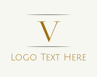 Highend - Gold Letter V logo design