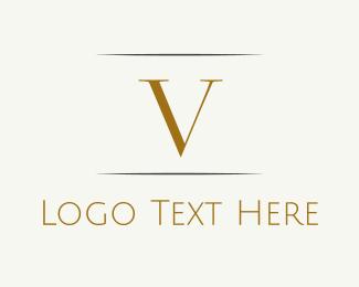 """""""Gold Letter V"""" by BrandCrowd"""