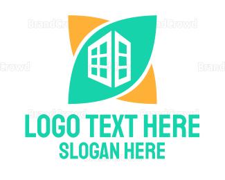 Eco Energy - Green Skyscraper logo design