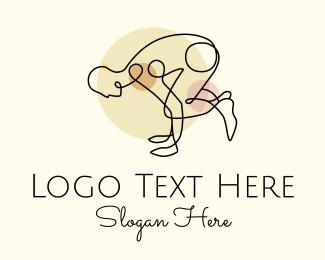 Exercise - Yoga Stretch logo design