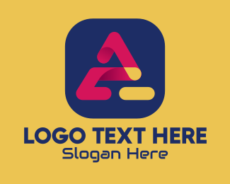 Social Media - Mobile App Letter A  logo design