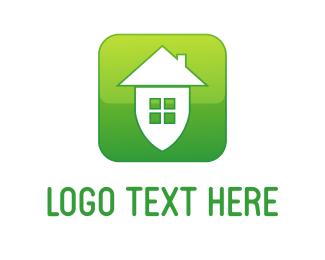 App - Green Home logo design