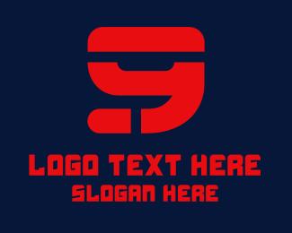 Jersey - Sporty Tech Number 9 logo design