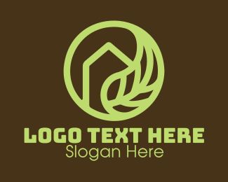 Outdoors - Green Leaf House logo design