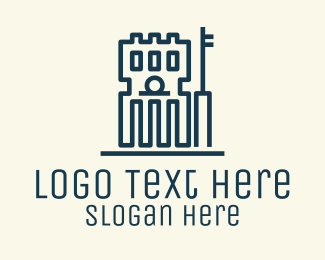 City Hall - Simple Government Building logo design
