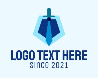 Job Hunt - Sword Suit Tie logo design
