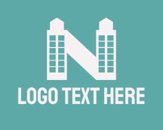White Tower - White Tower Letter N logo design