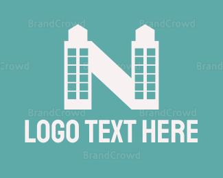 Condominium - Midnight Tower Letter N logo design