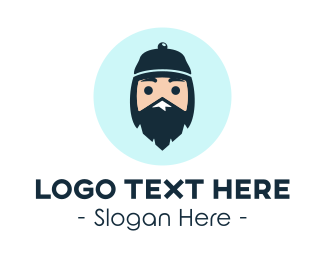 Cartoonish - Mountain Climber Hiker Sherpa logo design
