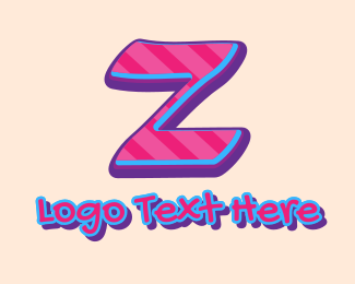 Pop - Pop Graffiti Art Letter Z logo design