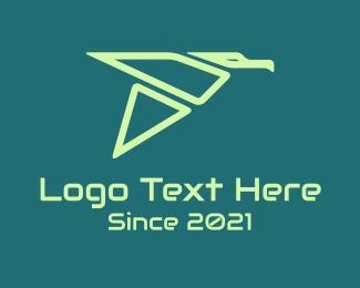Gull - Green Geometric Bird logo design