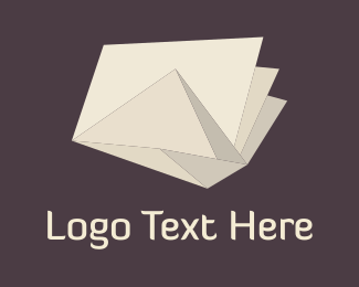 Folding - Origami Ivory Paper  logo design