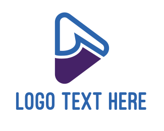 Document - Blue & Purple Play logo design