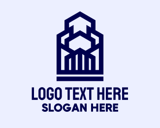 Urban Planner - Geometric Urban Buildings   logo design