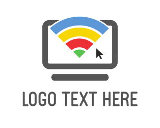 Desktop - Rainbow Wifi logo design