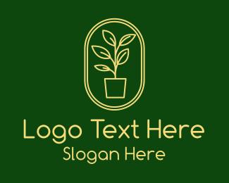 Logo - Tall Plant Badge logo design