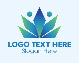 Pageant - Elegant Gradient Crown logo design