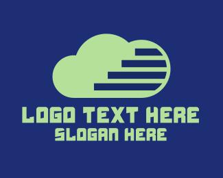 Cloud Storage - Green Tech Cloud  logo design