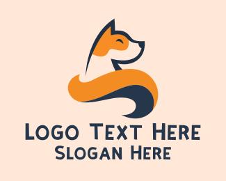 Dog Head - Cute Akita Dog logo design