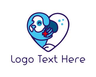 Vet - Dog Heart logo design