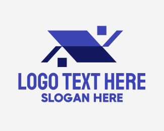 Geometric Shapes - Geometric House Property logo design