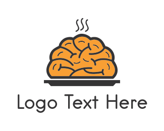 Artificial Intelligence - Smart Brain Food logo design