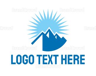 Everest - Blue Sunny Mountain logo design