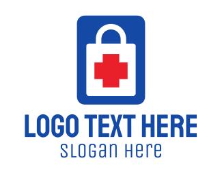 Shop - Medical Shopping Bag logo design