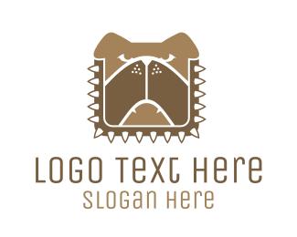Bulldog - Brown Dog Chain logo design