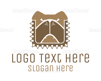 Aggressive - Brown Dog Chain logo design