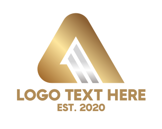 Metal - Modern Bronze Letter A logo design