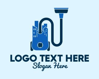 Hose - Vacuum Cleaner City  logo design