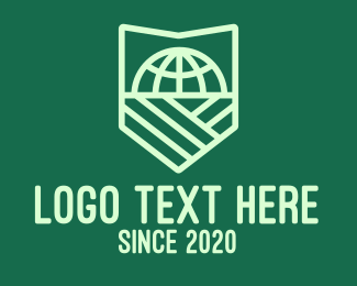 Safety - Global Earth Environment Protection Shield logo design