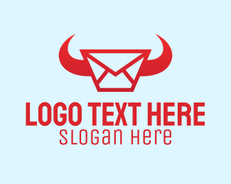 Horn - Red Horn Messaging logo design
