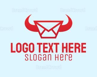 Messaging - Red Horn Messaging logo design