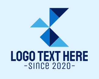 Coporate - Geometric Letter K logo design