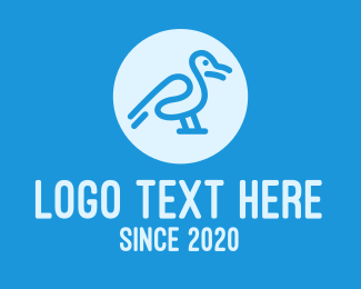 Zoo Animal - Unique Bird Circle logo design