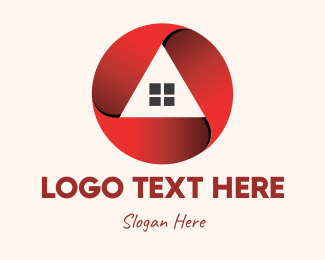 Home Repair - Red Housing Property logo design