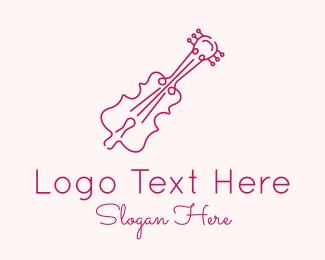 Purple Violin Outline Logo