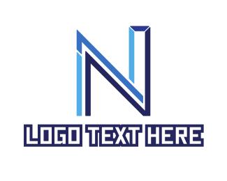 Letter N - Futuristic Letter N logo design