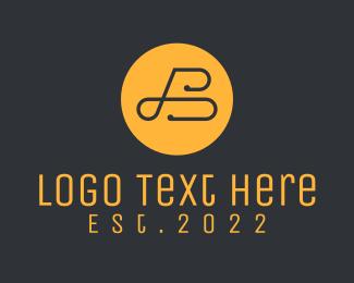Bank - Golden Elegant Letter  B logo design