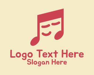 Voice Lesson - Sleepy Music Note  logo design