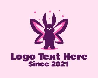 Storybook - Rabbit Butterfly logo design