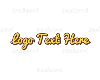 Casual - Fast Food Wordmark  logo design