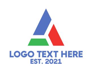 Blocks - Block Triangle logo design