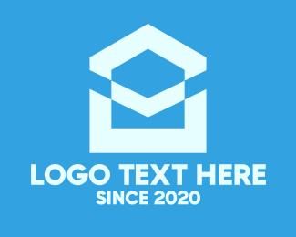 Pentagon - Blue House Property logo design