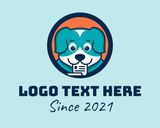 Puppy - Puppy Dog Document  logo design