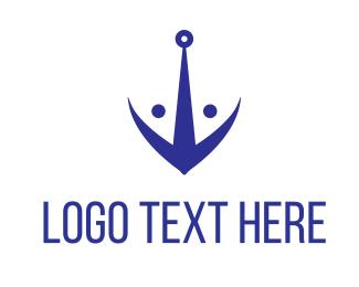Boating - Fish Anchor logo design